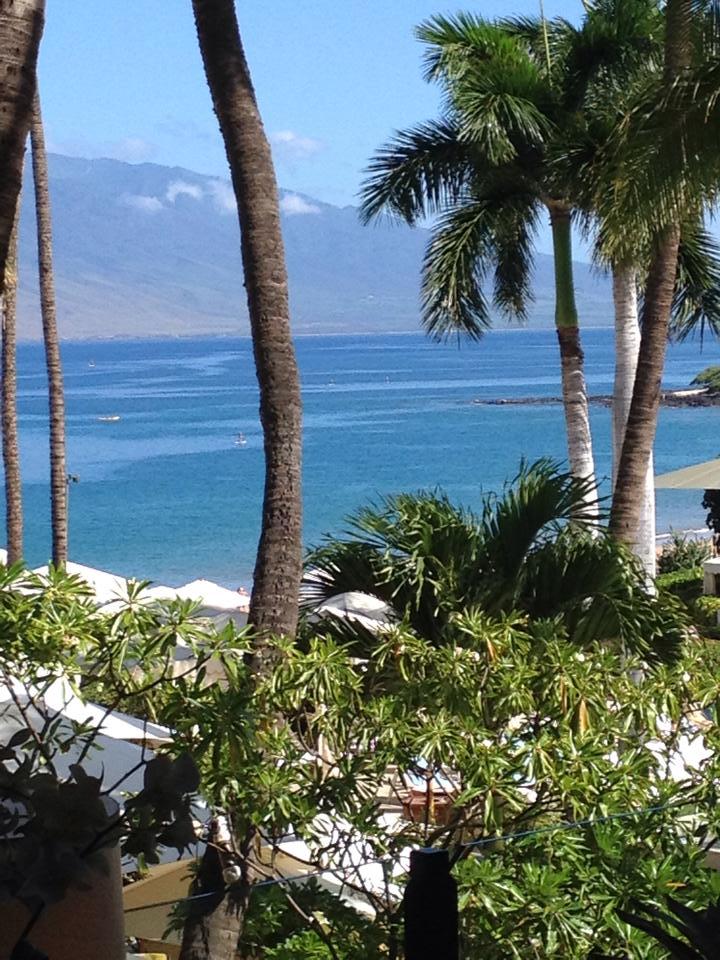 Hawaii ocean view from 4 seasons balcony