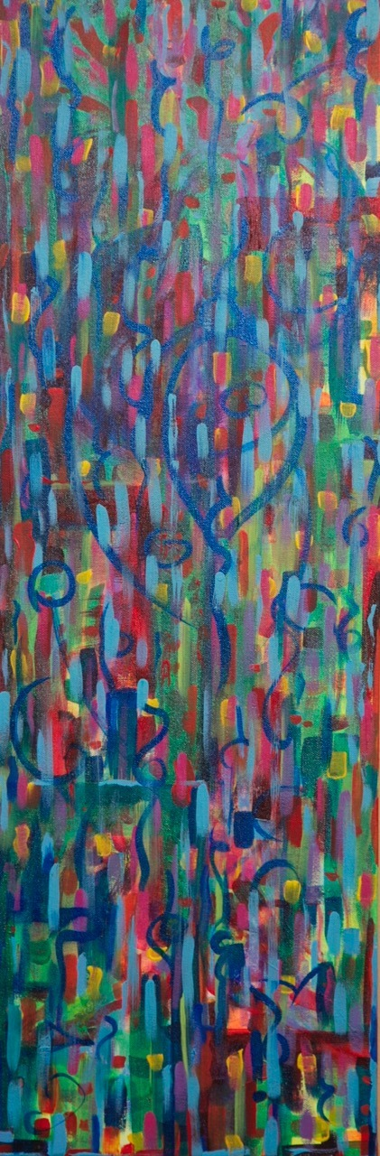 love seeks its own 36X12 acrylic on canvas 2014 hi res
