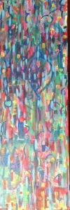 """love seeks its own"" 36X12"" acrylic on canvas"