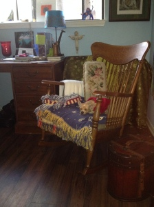 My Great-Grandmother Mary Ann Henley's rocker is over one hundred years old.  It carries powerful ancestral energy for stamina and determination.