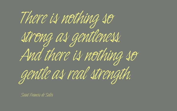 there is nothing so strong as gentleness meme