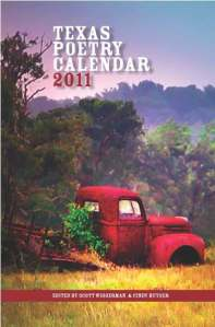 Texas Poetry Calendar Book cover 2011