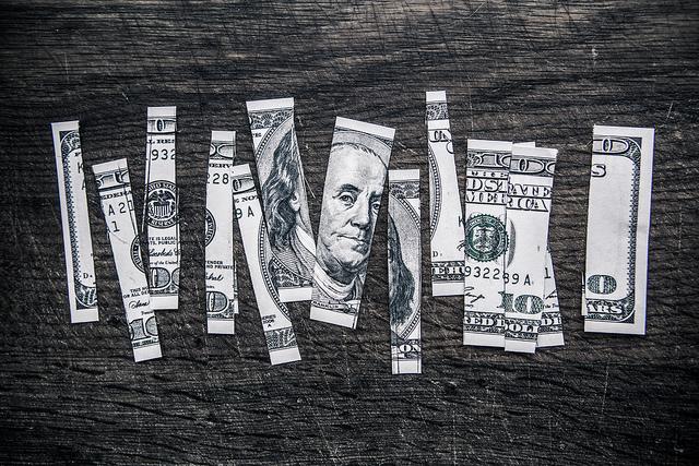 Money image bill cut up Tax Credits on flickr