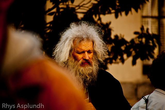 homeless man on broad street via CC Rhys A