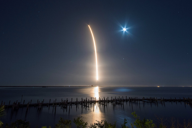 Official Space X photos Hispasat 30W-6 MIssion via CC