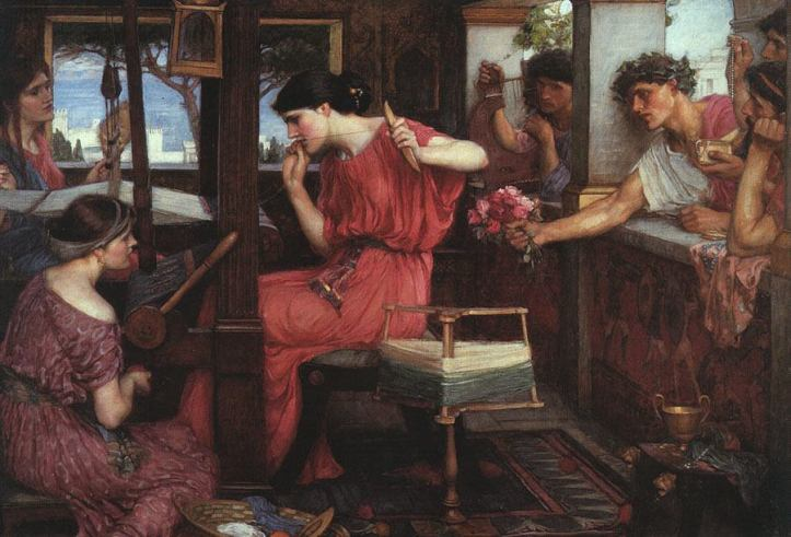 JohnWilliamWaterhouse-PenelopeandtheSuitors(1912)