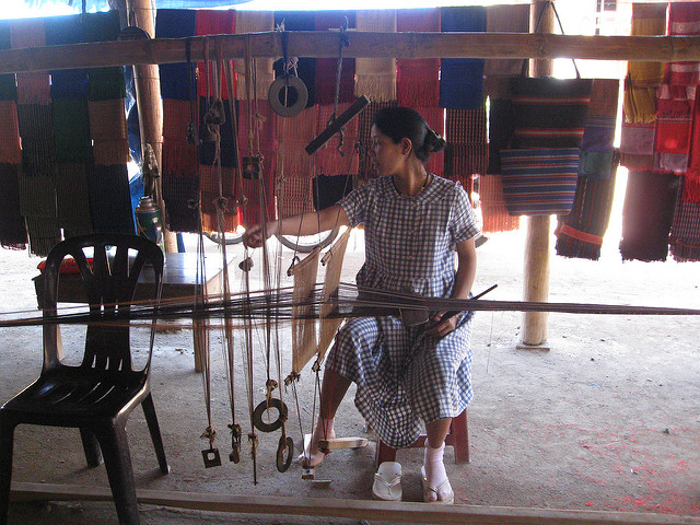 Weaving in Chicken Village Chris Feser via CC