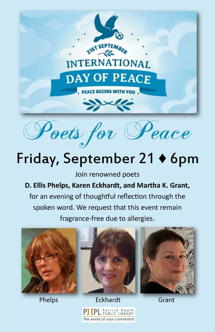 Poets for Peace Boerne Library 9 21 18