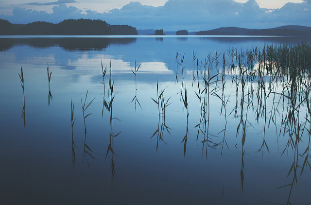 still water at dusk by Miguel Virkkunen Casva via CC